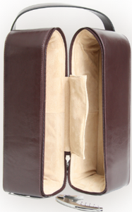 Suede Lined Double Wine Case