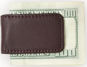 Suede Lined Magnetic Money Clip