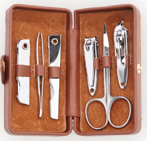 Suede Lined Manicure Set