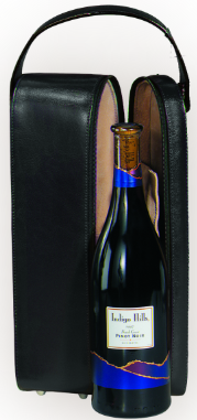 Suede Lined Single Wine Case