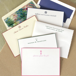 Monogrammed Hand Bordered Cards