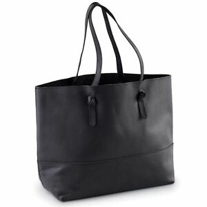 Black Miller Leather Tote
