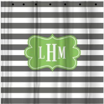 Monogrammed Custom Shower Curtain