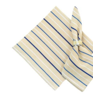 Sea Mist Stripe Monogram Napkin/Set of 4