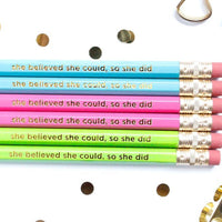 She Believed Pencil Set
