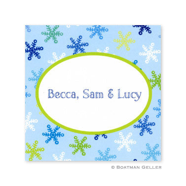 Snowflake Light Blue Stickers