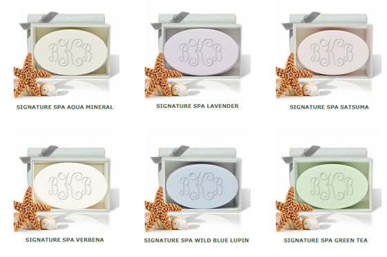 Signature Spa Name & Phrase Individual  Bar of Soap