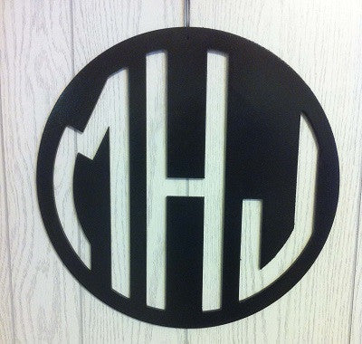 Solid Circle Monogrammed Door Hanger