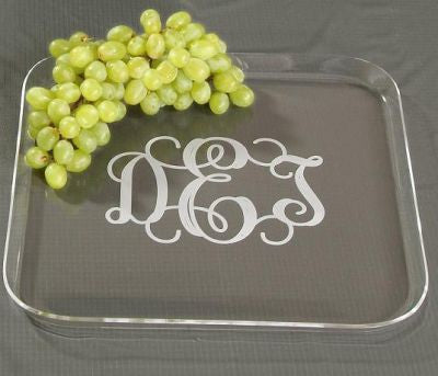 Monogrammed Acrylic  Square Tray