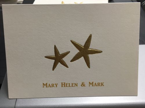 Personalized Starfish Folded Notes