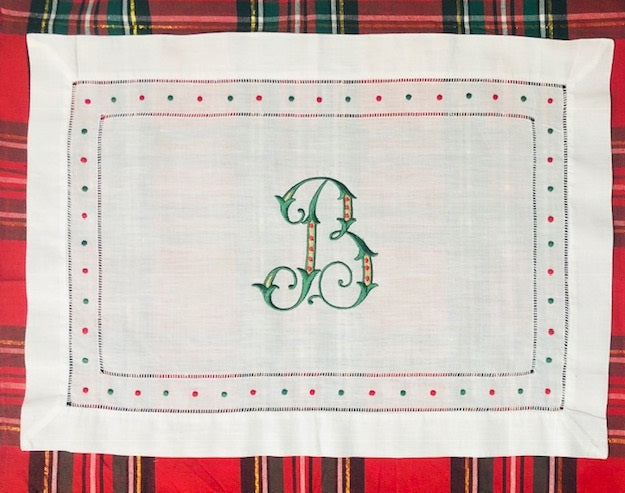 Red & Green Swiss Dot Placemats