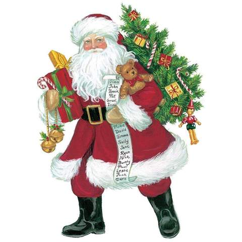 Lynn Haney Santa Ornament Gift Tag