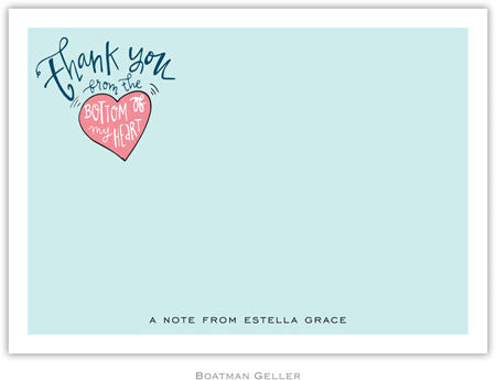 Thank You Heart Flat Notecard