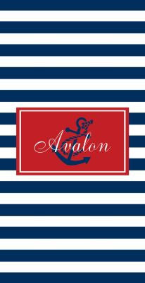 Personalized Thick Stripe Beach Towel