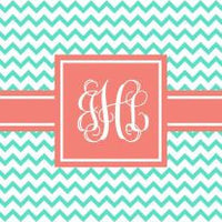 Personalized Thin Chevron Beach Towel