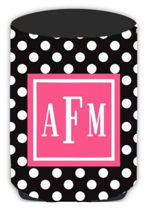Personalized Polka Dot Koozie