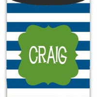 Personalized Thick Stripe Koozie