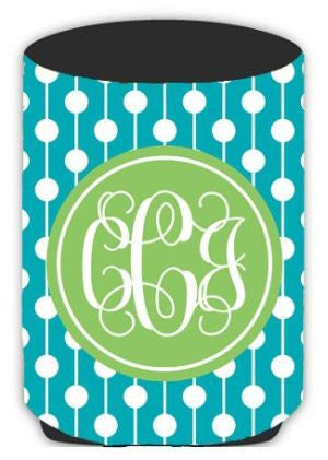 Personalized Retro Dots Koozie