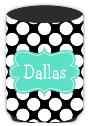 Personalized Big Dots Koozie