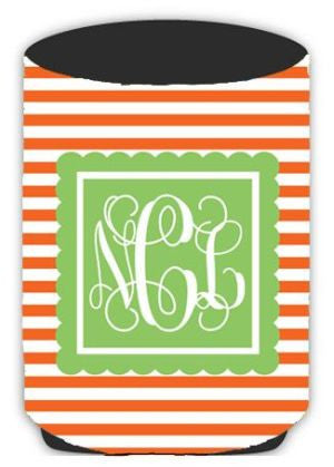 Personalized Thin Stripe Koozie