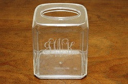 Monogrammed Acrylic Tissue Box Holder