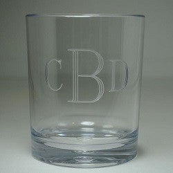 Monogrammed Acrylic Unbreakable Double Old Fashion