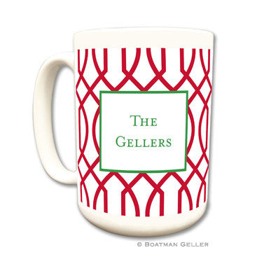 Trellis Reverse Cherry Coffee Mug