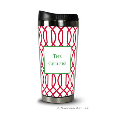 Trellis Reverse Cherry Travel Tumbler