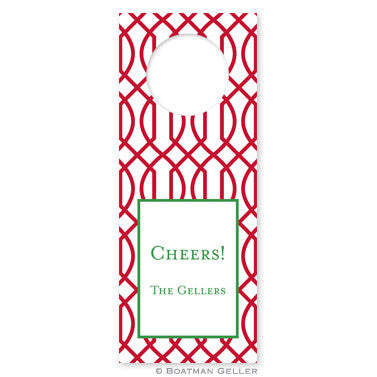 Trellis Reverse Cherry Wine Tags