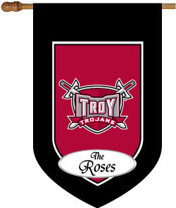 Monogrammed Troy University House Flag