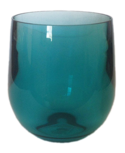 Turquoise Stemless Wine Glass