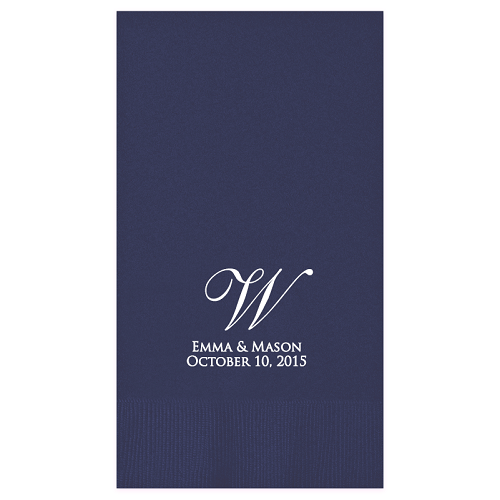 Serenity Foil Stamped Guest Towel