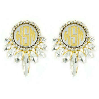 Monogrammed Vienna Earrings