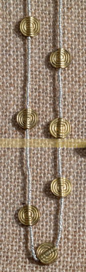 Vintage Swirl Beads with Gold Heishi