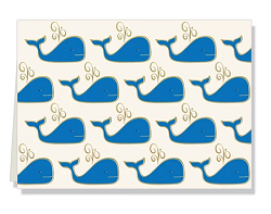 Personalized Whale Folded Notes
