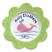 Personalized Whale Plate (Girl)