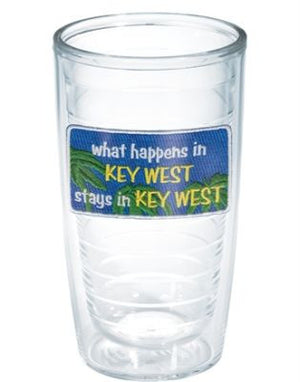 Monogrammed What Happens in Key West, Stays in Key West Tervis Tumbler
