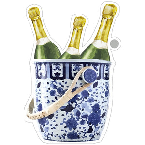 Champagne Bucket Die-Cut Gift Tags