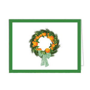 Citrus Wreath Folded Notecard