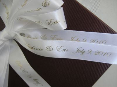 Custom Printed Satin Ribbon - Neutrals