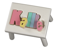 Classic Name Puzzle Stool