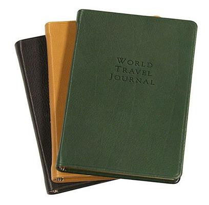 Traditional Leather World Travel Journal