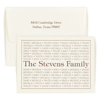 Tiffany Family Pride Folded Note