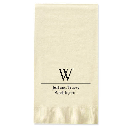 Foil-Stamped Initial & Name Guest Towel