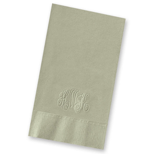 Embossed Monogram Guest Towel