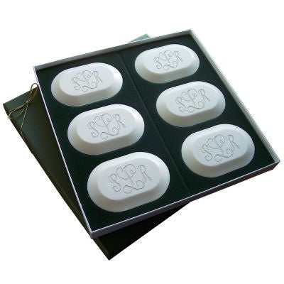 Monogrammed Soap Six Bar Set