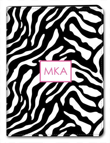 Personalized Zebra iPad 2/3/4 Folio