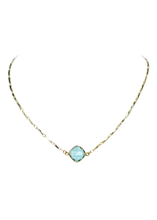 ANYA CELESTE NECKLACE AQUAMARINE