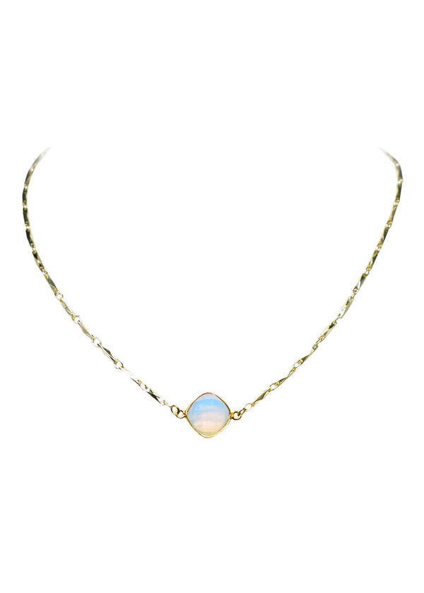 ANYA CELESTE NECKLACE WHITE OPAL (SOLD OUT RN)