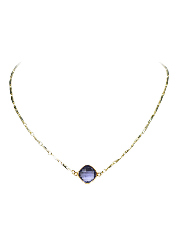 ANYA CELESTE NECKLACE PURPLE IOLITE